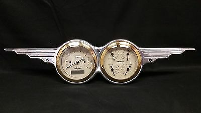 3 3/8 INCH QUAD WING STYLE DASH CLUSTER GOLD