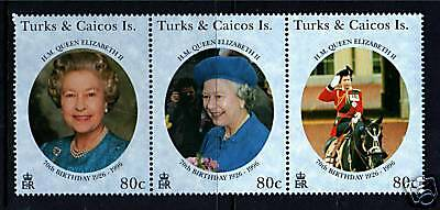 Turks & Caicos 1996 Queens 70th Birthday SG1378/80 MNH