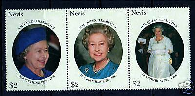 Nevis 1996 Queens 70th Birthday SG 1018/20 MNH