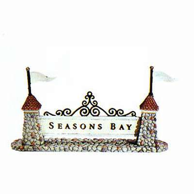 Dept 56 Season's Bay Season's Bay Sign NIB #53343