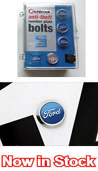 Ford Anti Theft Car Number Reg Licence Plate Bolts Screws GENUINE LICENSED