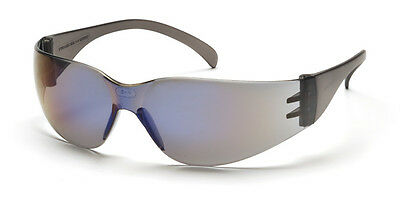 3 Pair 1700 Series Blue Mirror Lens Safety Glasses