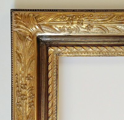Picture Frame 24x30 Vintage Antique Style Baroque Goldblack Ornate