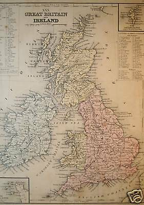 Antique Map ~ Great Britain & Ireland, Mitchell, 1865 ~ Historically significant