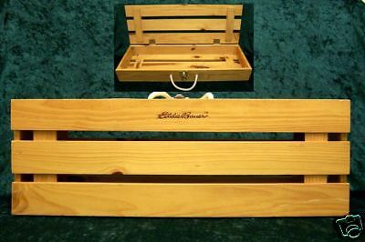 Eddie Bauer Wooden Crate With Rope Handle Nice