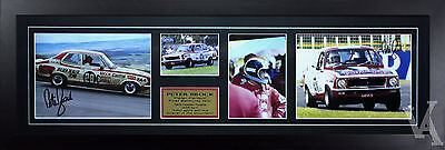 Peter Brock First Bathurst Win Gtr Ux1 Signed & Framed Motor Racing Memorabilia