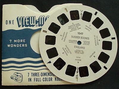 VIEW-MASTER~# 1047 SUSSEX SCENES~ENGLAND~1947