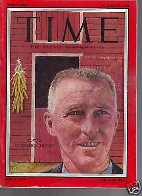 Time Magazine Iowa's Governor Hoegh October 22, 1956