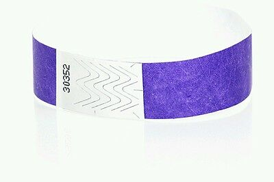 "5,000 3/4"" Purple Tyvek Wristbands, Purple Paper Wristbands, Paper Arm Bands"