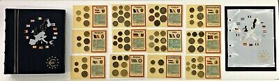 12 NATION PRE  EURO ZONE COIN COLLECTION (TOTAL of 79 COINS) in FANCY ALBUM