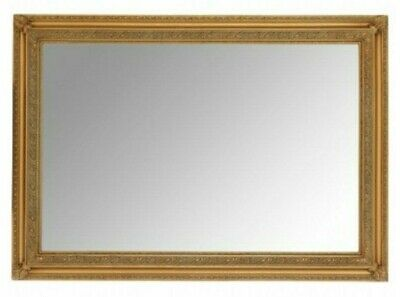 "ANTIQUE GOLD EXTRA LARGE WALL MIRROR - 30"" x 42"" (75cm x 105cm) - Superb Quality"