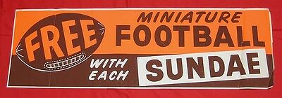Dairy Queen 1952 Football giveaway sign poster