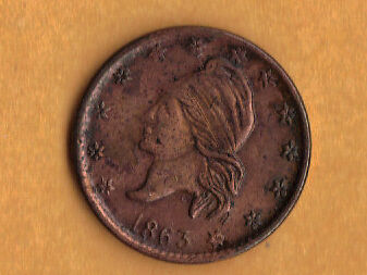 Hard Times Tokens 1863 copper civil war coin ??dont kno