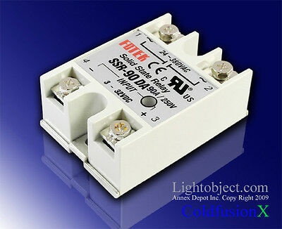 New 90A SSR Solid State Relay 3-32V DC 24-380V AC