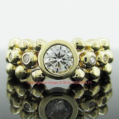 Real Genuine Solid 9k Yellow Gold Engagement Wedding Chain Ring Simulate Diamond