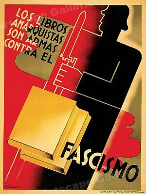 """Books are Weapons!"" 1930s Spanish Civil War Poster - 24x32"