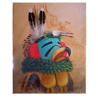 Navajo canvas painting HOPI EAGLE DANCER 16x20 by world renownd Jimmy Yellowhair