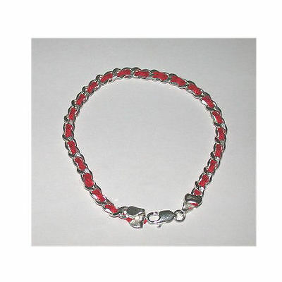 3 pcs Red String Kabbalah Bracelets Sterling Silver Bendel