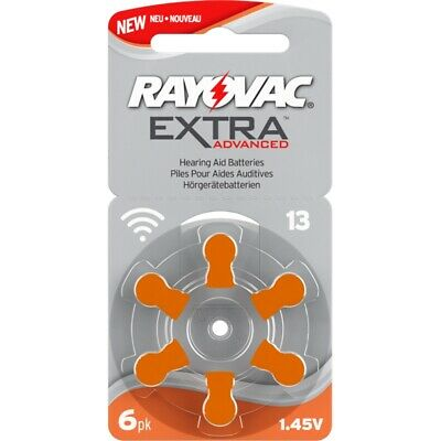 60x Hörgeräte-Batterie Typ 13 Rayovac Extra Advanced