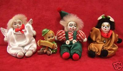 Lot Of 4 Collectable Clown Figurines 1 Artmark  Funny & Cute!