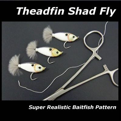 3 SUPER SHAD FLIES for fly fishing rods reels & lines