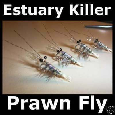 3 PRAWNS 1/0 3/0  for fly fishing rods reels & lines