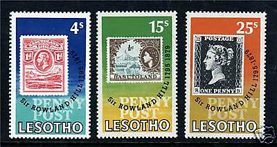 Lesotho 1979 Rowland Hill  SG375/7 MNH