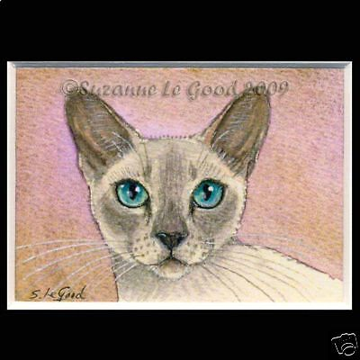 Ltd Edition Aceo Tonkinese Cat Painting  Print From Original By Suzanne Le Good
