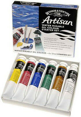 Winsor & Newton Artisan Water Mixable Oil Starter Set - 6 x 21ml Tubes