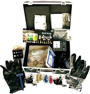 Full Tattoo Kit/ 2 Guns,Ink,Machine,Needles.UK Seller!!
