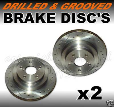 Drilled Grooved Front Brake Disc FORD FOCUS 1.4 1.6 1.8