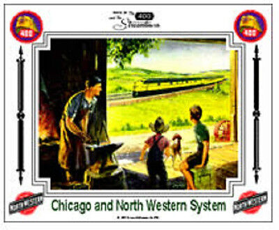 CHICAGO AND NORTH WESTERN #2 RAILROAD Tin Sign