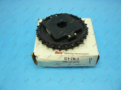 "Rexnord 614-196-3 NS8500 Split Table Top Chain Sprocket 1-1/4"" Bore 27T 6.57"" OD"