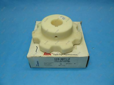 "Rexnord 114-3871-2 KU78 Nylon Table Top Chain Sprocket 1.375"" Bore 7T New"