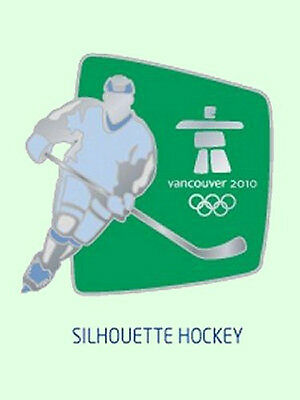 OFFICIAL Vancouver 2010 Silhouette Hockey Olympic Lapel Pin