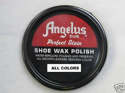 Angelus Leather Shoe, Boot Perfect Stain Wax Paste Polish- ALL COLORS- NEW!