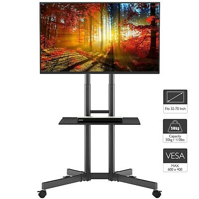 """Mobile TV Stand Trolley Cart Mount Exhibition Display for 32""""-65"""" Plasma/LCD/LED"""