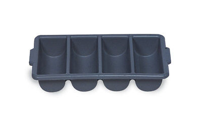 Rubbermaid Cutlery Bin, 4 Compartments Grey - Free P&P