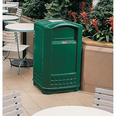 Rubbermaid 3965 Plaza® Container with Ashtray Green FOC P&P