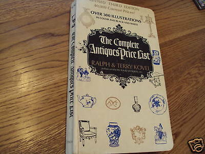 The Complete Antiques Price List Kovel 3rd edition 1971