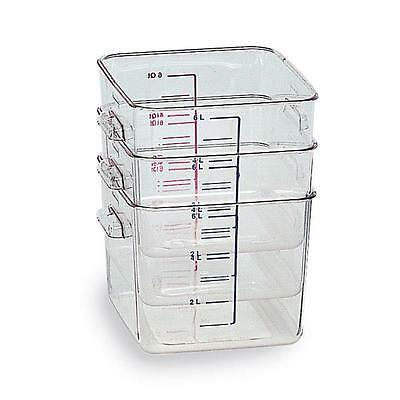 Rubbermaid 6304 Space Saving Square Container 3.8L Free P&P