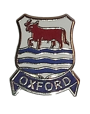 Oxford City Coat Of Arms Enamel Lapel Pin Badge
