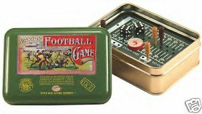 Travel, Parlar Football Vintage Series Tin Box Game Made in USA Channel Craft