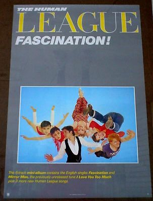 Human League 1983 poster Fascination mint cond