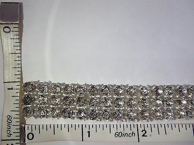 Rhinestone Chain Trimming Metal presetting Mesh Base Glass Stone Sew on Trim 1yd
