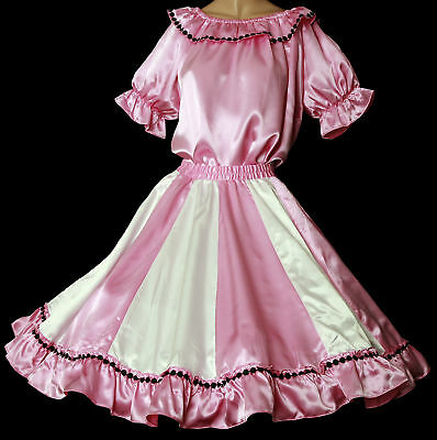 """Pink & White Square Dance Outfit Sz Small  W25""""-32"""""""