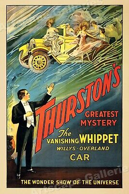 Thurston's Greatest Mystery - Vanishing Car 1925 Classic Magic Poster - 24x36