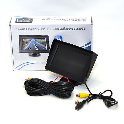 LCD 4.3 Inch TFT Dashboard DVD Monitor Screen For Car Vehicle Reversing Camera