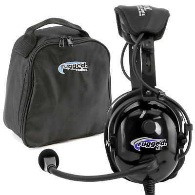 Rugged Air RA900 Stereo General Aviation Pilot Headset - Aviation Headset
