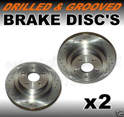 Drilled Grooved Front Brake Discs Jaguar X-TYPE xtype